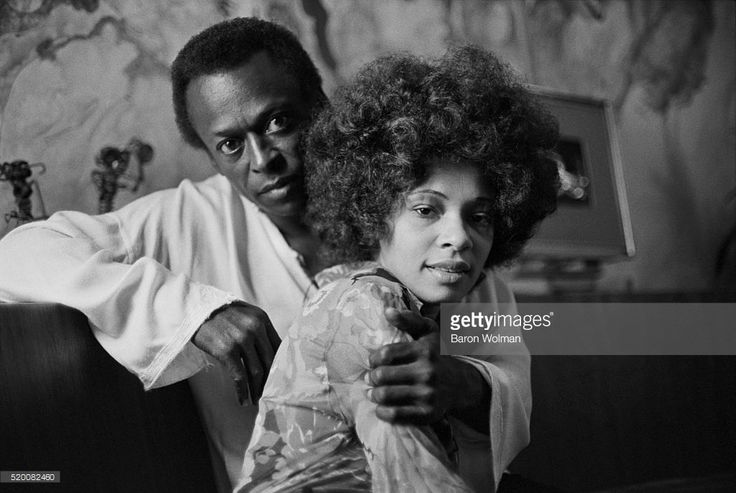 American jazz trumpeter Miles Davis and his wife, funk singer, Betty Davis at their home in New York City, October 1969.