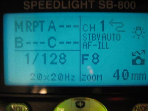 Nikon SB-800 in MASTER RPT mode