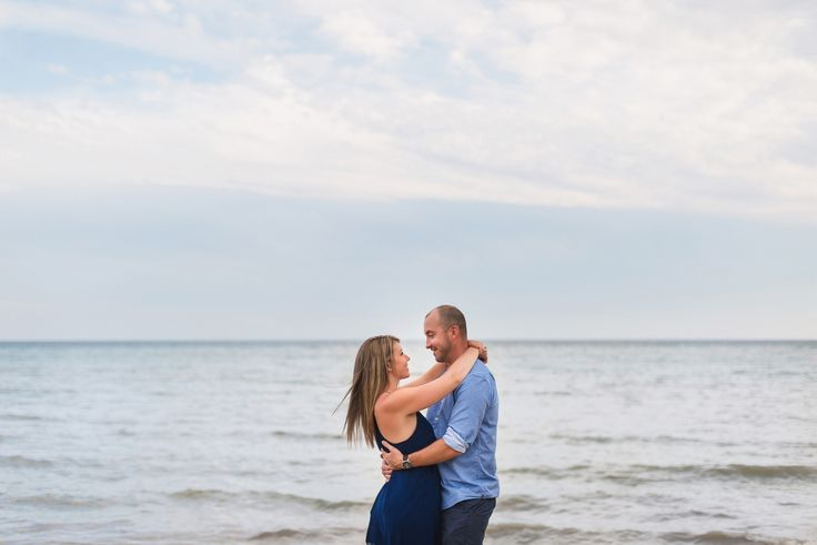 A beautiful engagement shoot by Scarborough Bluffs. #torontowedding