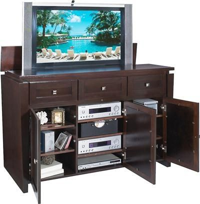 storage for 3 or more components plus accessories keep your tv out of sight when not in use the biscayne tv lift cabinet keeps your tv hidden when you donu0027t
