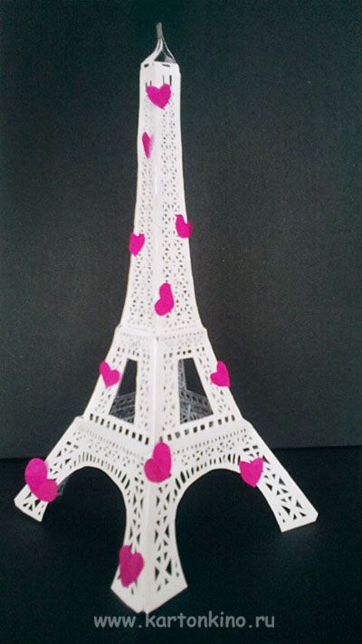 Eiffel Tower made of paper + TEMPLATE+ HOW TO