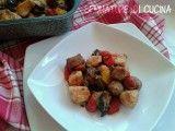 Bocconcini di tacchino e salsiccia al forno con verdure