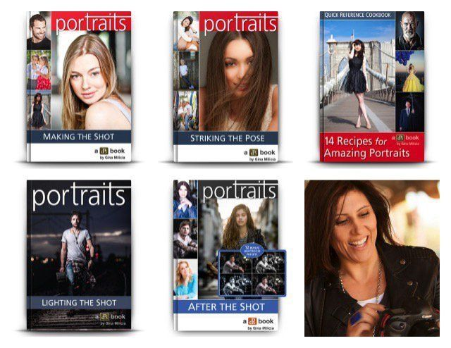 It is day 9 of our 12 deals of Christmas and it is one we know many of you have been waiting for – crazy deals on our Portrait Photography eBooks by Gina Milicia. We've got a brilliant bundle option f