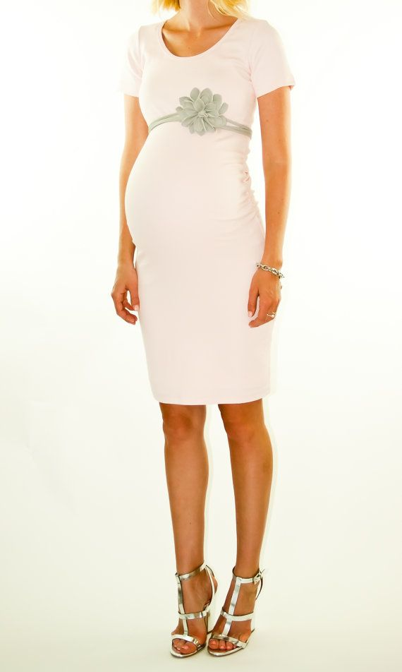 Pink Maternity dress. So elegant...my mom would make this for me! Saving pic for later
