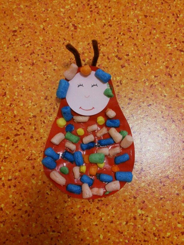 Pulcetta multicolore realizzata con il mais