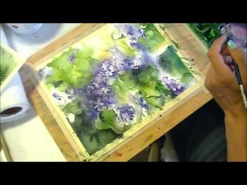 Painting Violets in Watercolour