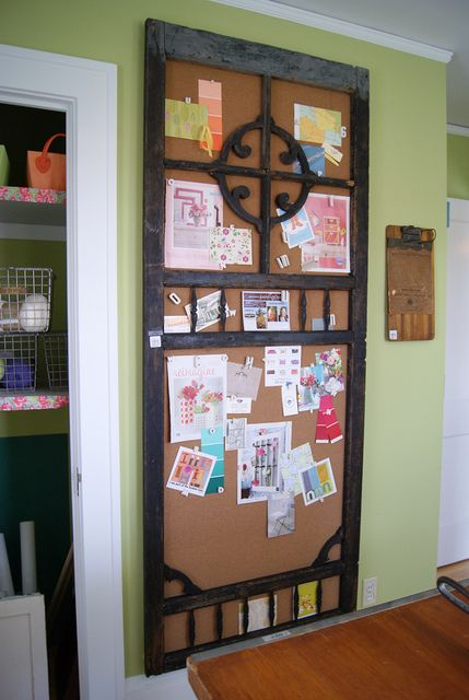 Screen door bulletin board - I already have the door!