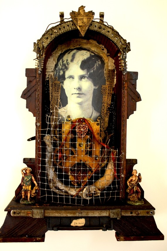 """Gang Box For Sale >> """"The Secret"""" Mixed Media Assemblage shrine by ..."""