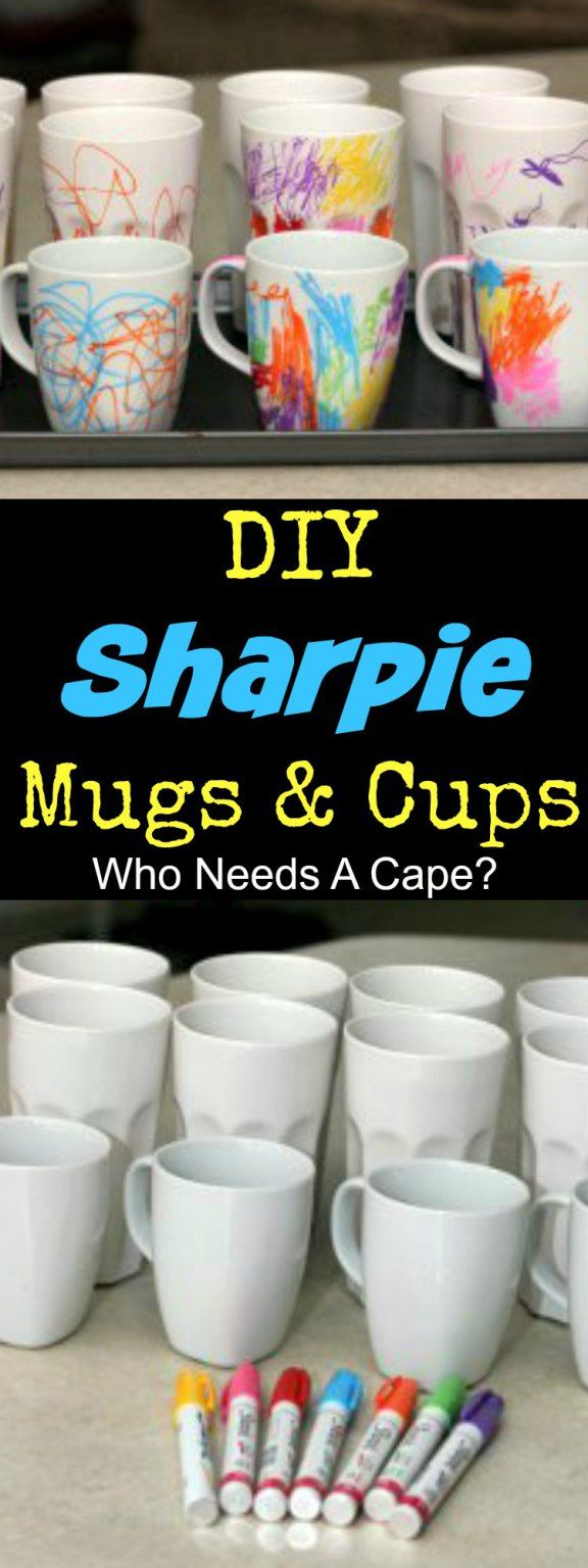 These DIY Sharpie Ceramic Mugs and Cups are such a fun family project. Let the kids decorate and give as gifts, they'll be a treasured momento.