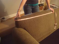 step by step instructions on how to make a professional slip cover for a chair or couch.  theindustrialcottage.blogspot.com