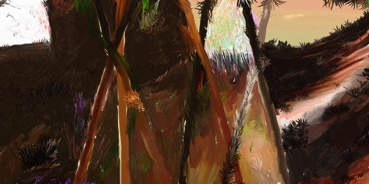 My dear early  180x110cm oil on canvas 2016r