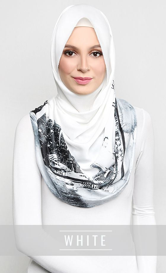 The Singapore Scarf in White