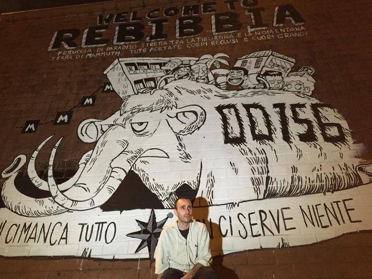 WELCOME TO REBIBBIA FETTUCCIA DI PARADISO TRA LA TIBURTINA E LA NOMENTANA TERRA DI MAMMUTH, TUTE ACETATE, CORPI RECLUSI E CUORI GRANDI - http://c4comic.it/2014/12/03/zerocalcare-il-murale-a-rebibbia-e-completo/