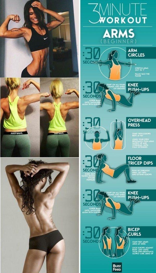 Zestaw ćwiczeń, smukłe ramiona, a przy okazji jędrne piersi! 3 minuty na pewno znajdziesz!