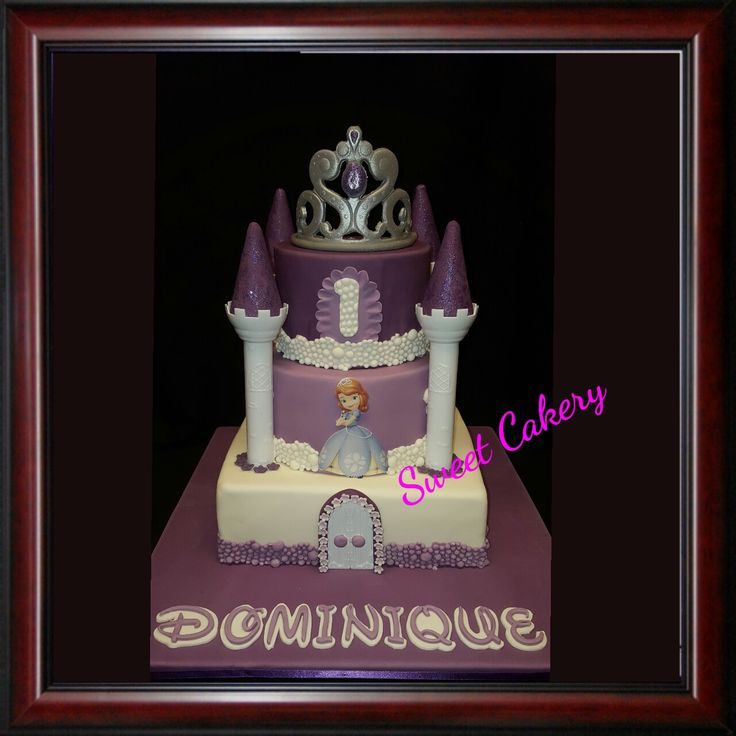 Prinses Sofia taart# Sofia the first cake #sweetcakery Amersfoort