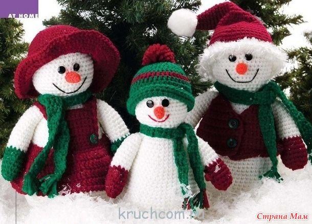Семейка снеговиков. Поделка в детский сад