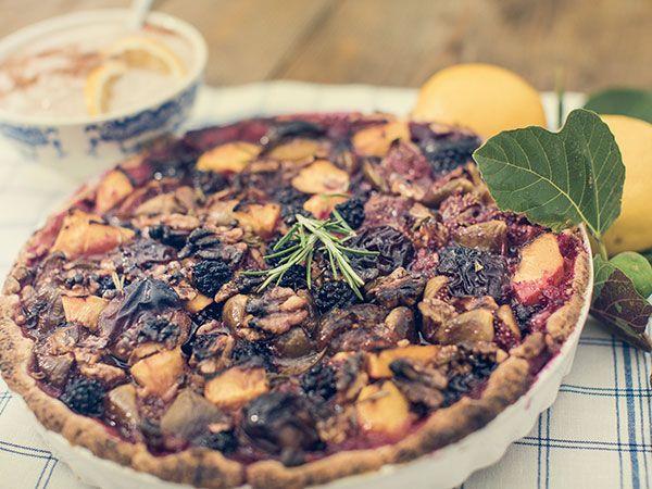 Fikon- och persikopaj med ricottakräm | Recept.nu