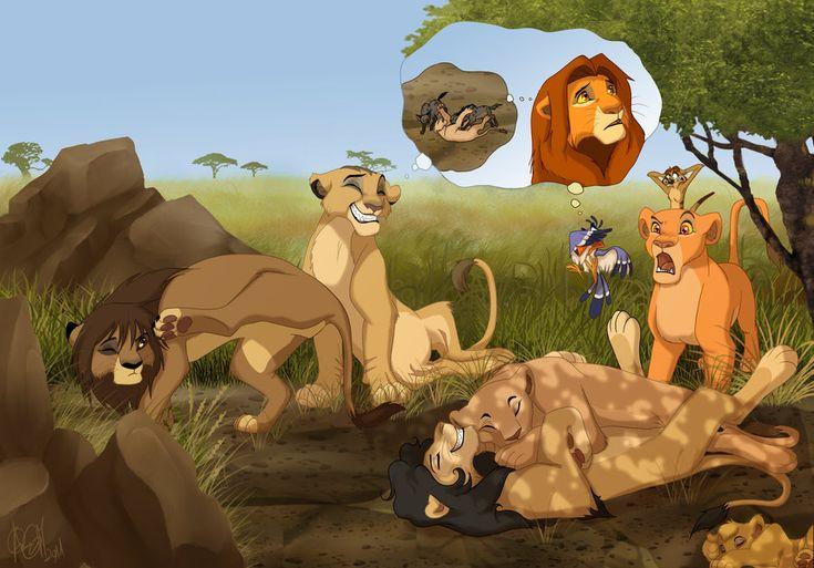 The lion king simba and nala mating