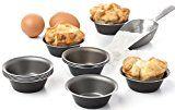 Maxi Nature Pack of 12 Mini Pie Muffin Cupcake Pans egg Tart Bakeware  3.1 Inch Tins  12 Molds NonStick Black bakeware
