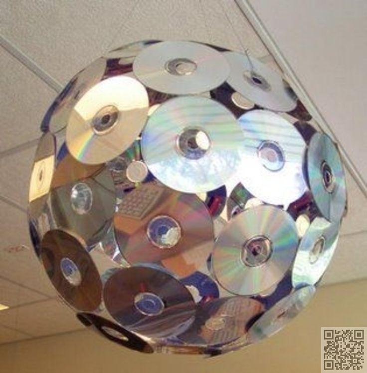 17. pas cher #boule Disco - 35 #façons de recycler de #vieux CD... → DIY