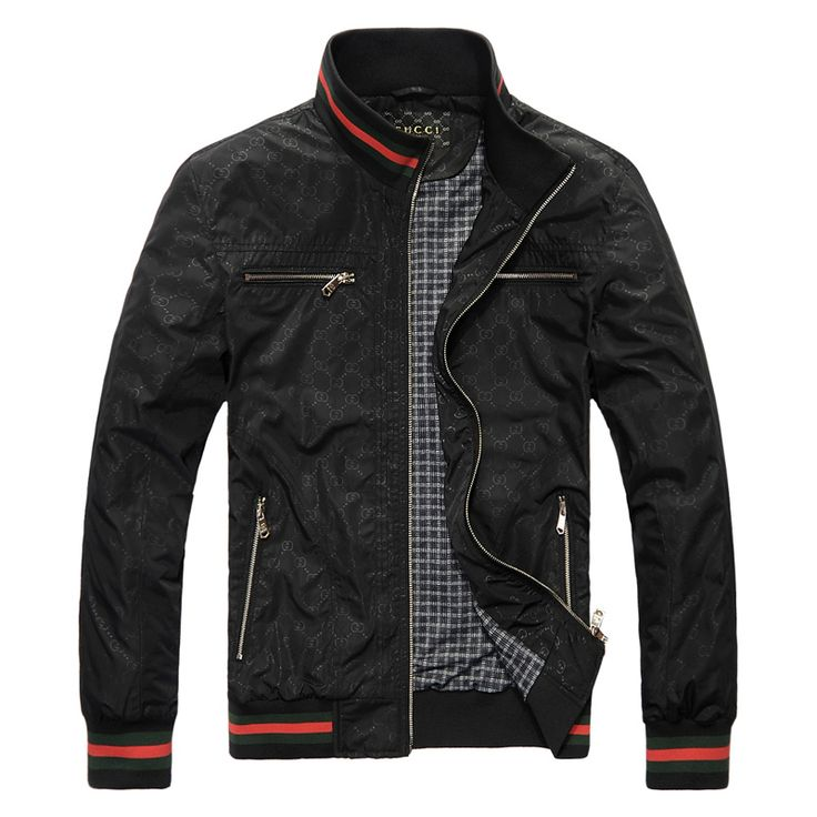 BLACK MEN  CLOTHING | GUCCI men\'s leisure jacket Gucci men Gucci jacket jackets coat men\'s ...