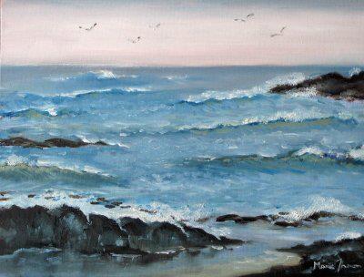 Ocean scene by Marie Theron. SOLD