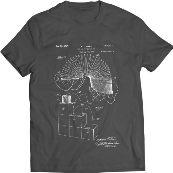 Slinky Toy Vintage Edition Patent T-Shirt Mens Gift Idea 100% Cotton Holiday Gift Birthday Present