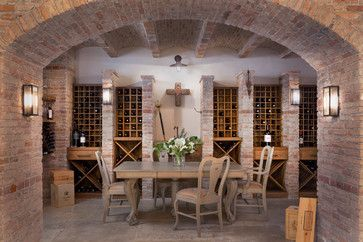 Newport Beach - mediterranean - Wine Cellar - Orange County - Dugally Oberfeld, Inc.