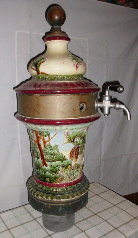 Jugendstil Zapfsäule Bier Majolika Keramik Säule Dekoration Gaststätte antik