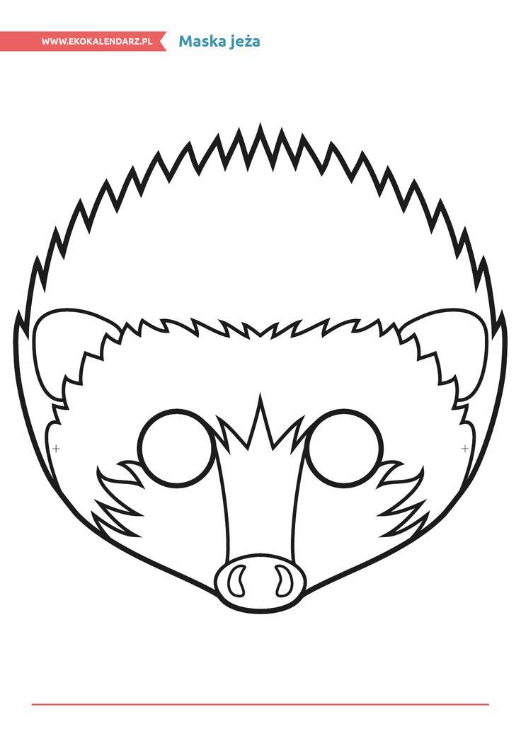 Maska jeża http://www.ekokalendarz.pl/miedzynarodowy-dzien-strazaka-pakiet-edukacyjny/