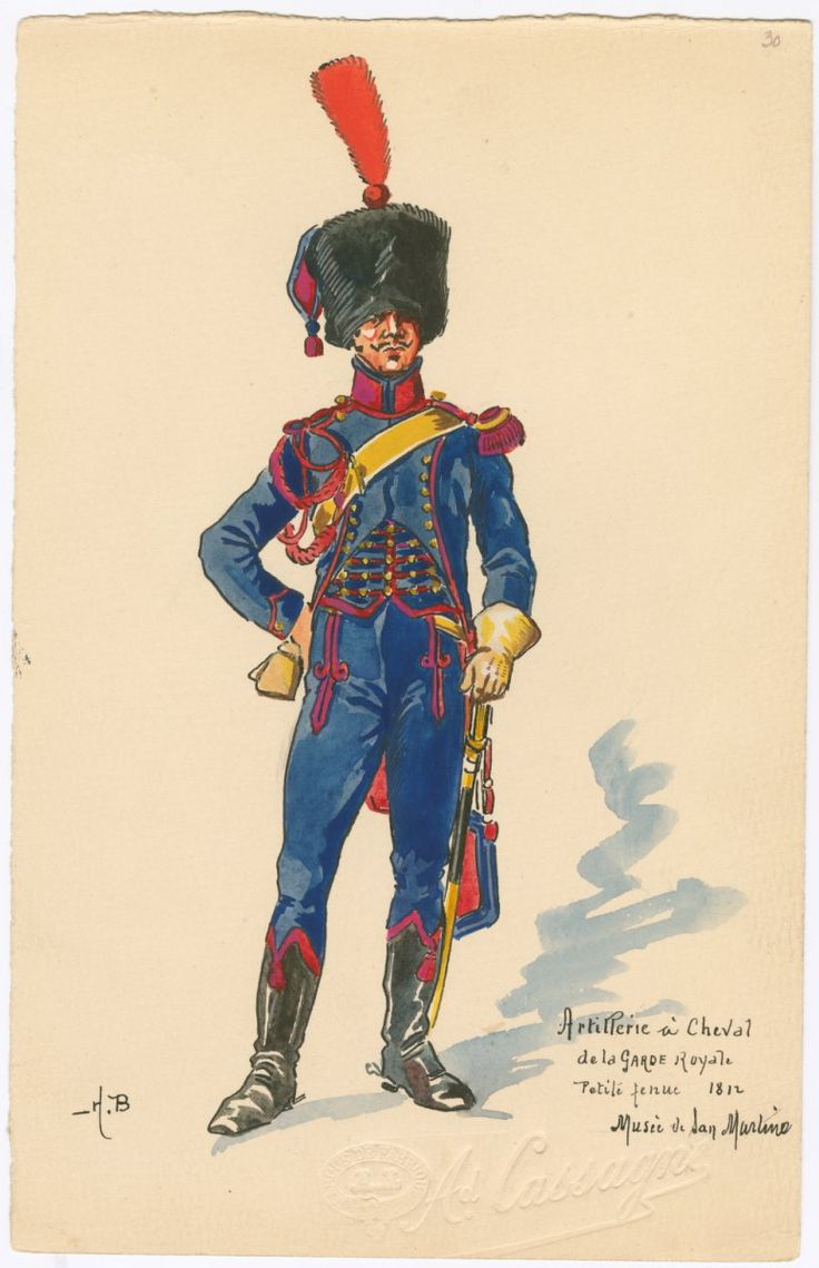 Naples; Royal Guard, Horse Artillery, Petite Tenue 1812