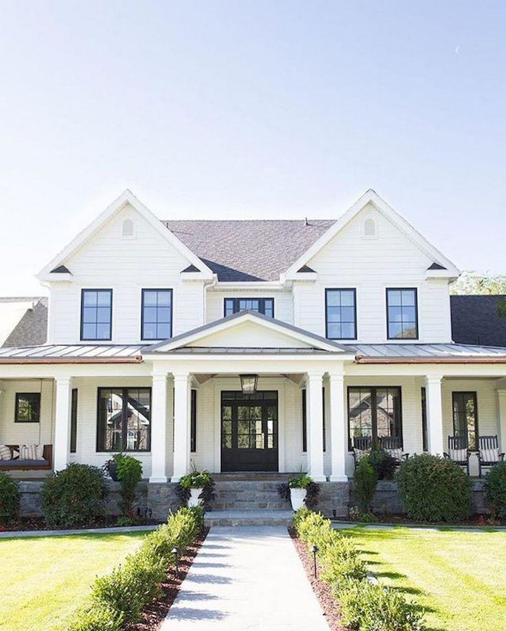 80+ Beautiful Modern Farmhouse Exterior Design Ideas