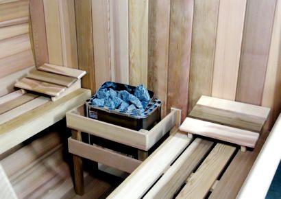 Inside Ukko barrel sauna