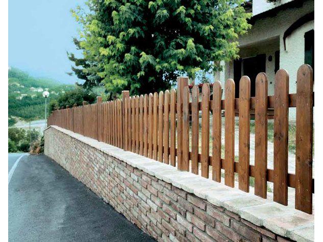 """Recinzione """"Valles"""" in legno di abete impregnato. Produzione Il Ceppo. #staccionata #steccato #giardino #garden"""