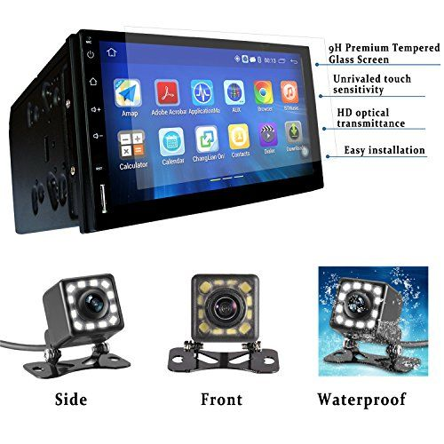 Panlelo® 7 Inch 2 Din Head Unit Android 4.4.4 GPS Navigation Car Stereo Audio Radio 1080P Video Player ARMv7 Quad Core Built in Wi-Fi Bluetooth AM/FM/RDS Steering Wheel Control