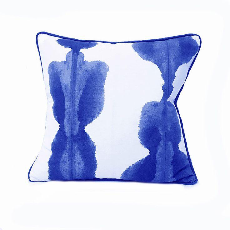 Blue Cushion- Blue and White- Cobalt Blue- Cushion Cover- Bright Blue- Watercolour- Modern- Contemporary- Cushion Cover- Beach Retreat by WhoaBoho on Etsy https://www.etsy.com/uk/listing/474437981/blue-cushion-blue-and-white-cobalt-blue