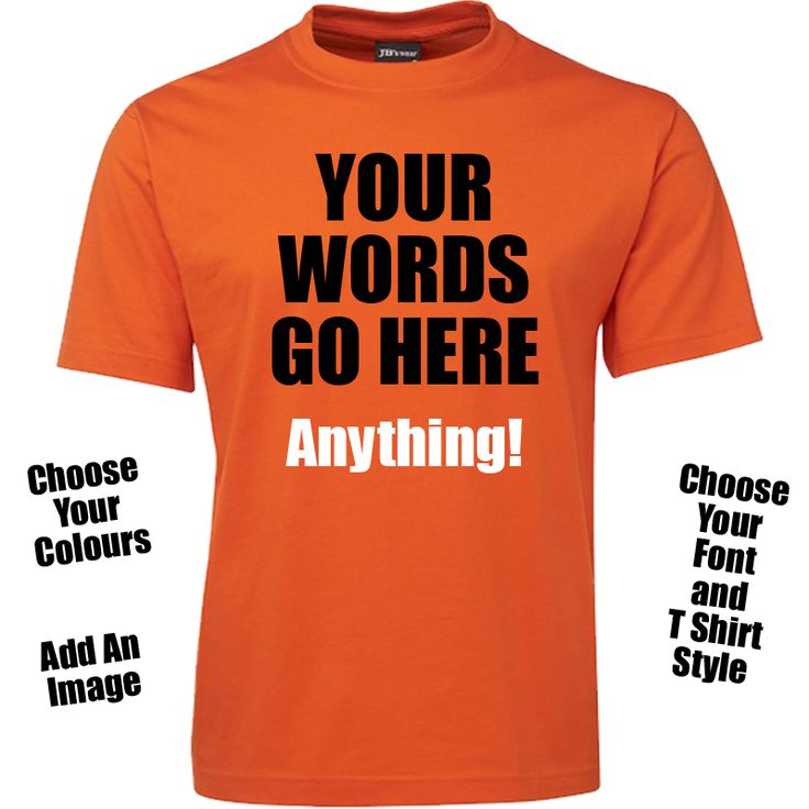 Custom Text T Shirt - Mens