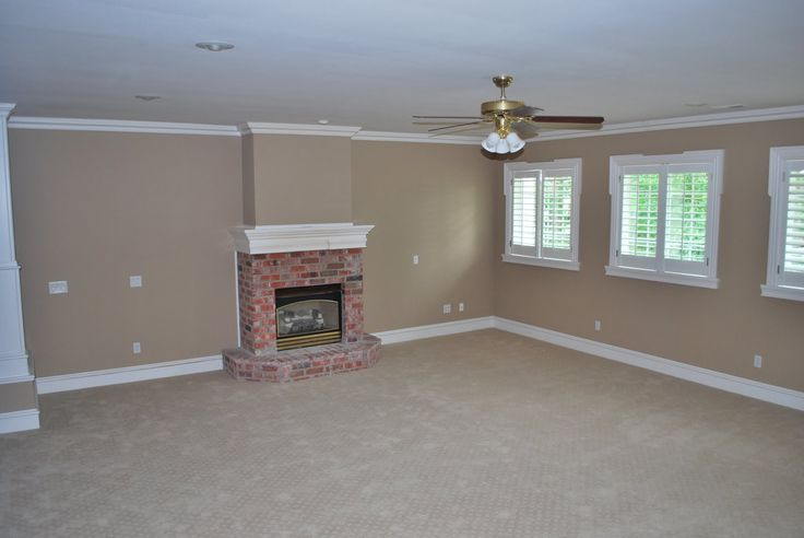 wall color to complement red brick fireplace   She's a