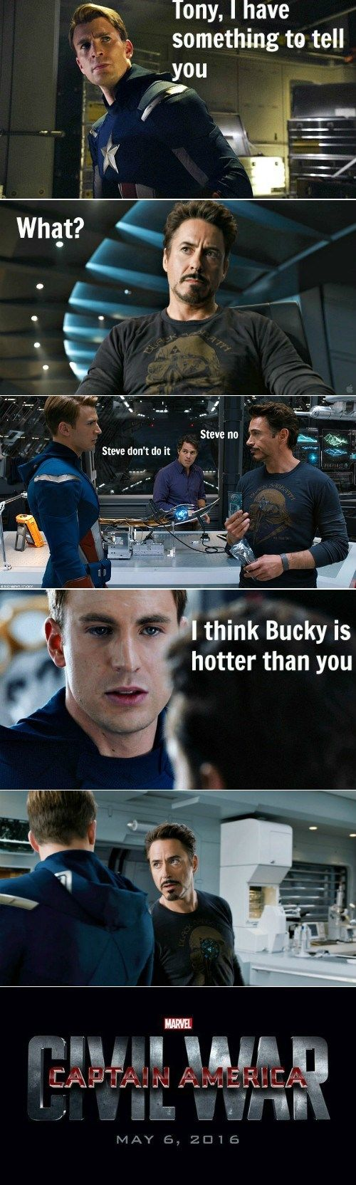 The Avengers Were Never The Same...<< Bucky IS hotter though, just saying!! :D<<<Anyone who thinks otherwise will have to go through us.