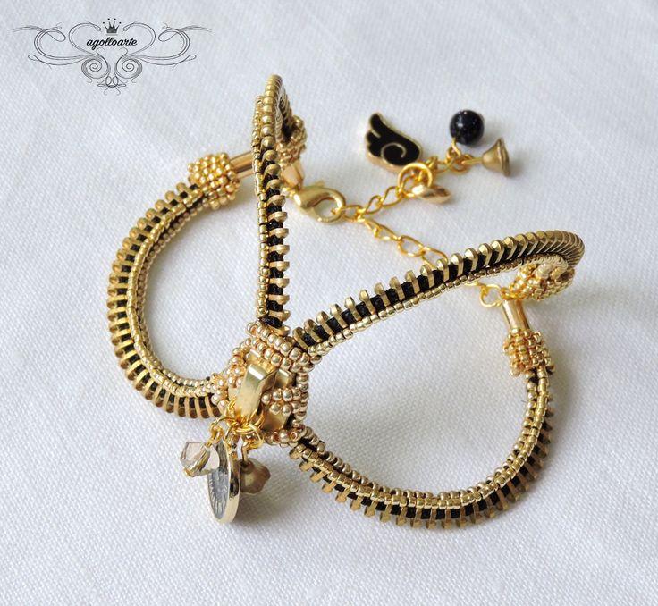 agolloarte: Zipper bracelet czyli suwak :-).