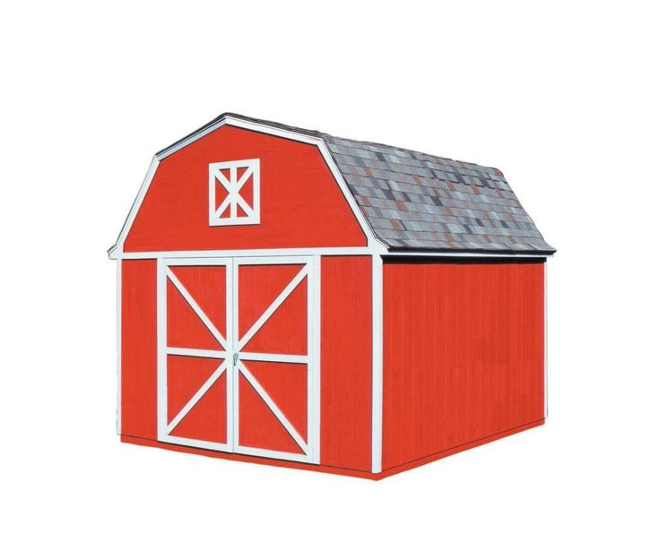 Berkley 10 ft. x 12 ft. Storage Building Kit with Floor #storageshedkits #shedbuildingkit