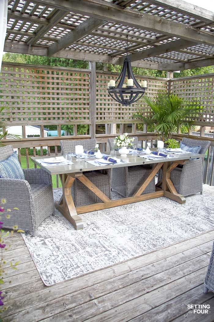 36 Stunning Trestle Tables You Ll Love Outdoor Dining Room Outdoor Living Decor Dining Area Furniture
