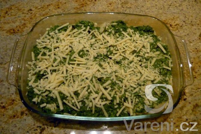 Zapečené těstoviny s kuřecím a špenátem