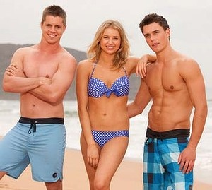 Chris Harrington, Maddy Osbourne and Spencer Harrington from Home and Away