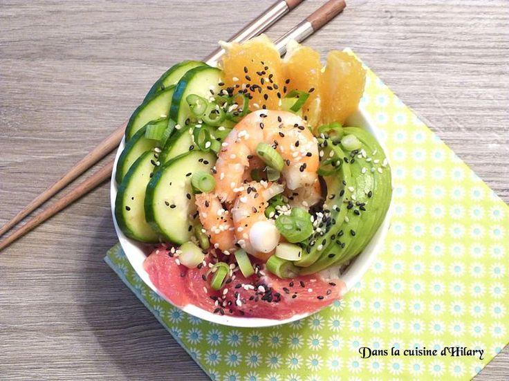 Découvrez la recette Poke bowl à la crevette marinée sur cuisineactuelle.fr.