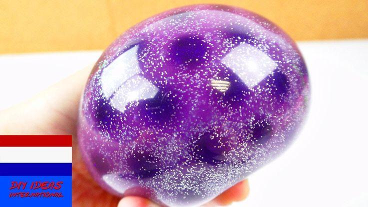 stressbal met Orbeez, slijm & glitter galaxy-effect