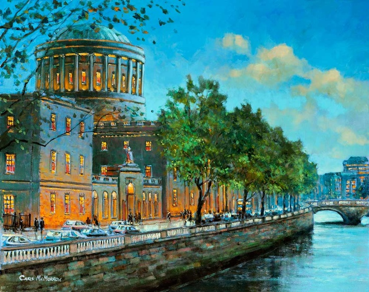 The Four Courts by Chris McMorrow - PRINT