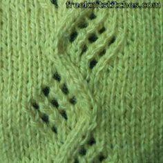 Vine knitting stitches