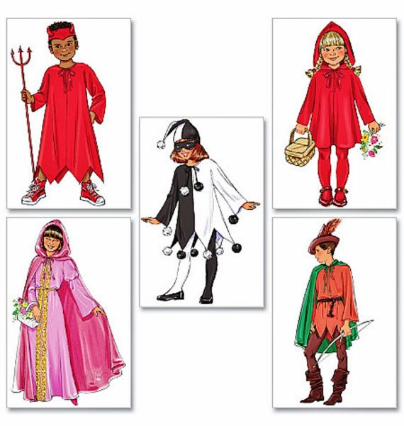 Childs' Costume Pattern Robin Hood Pattern Red Riding by blue510