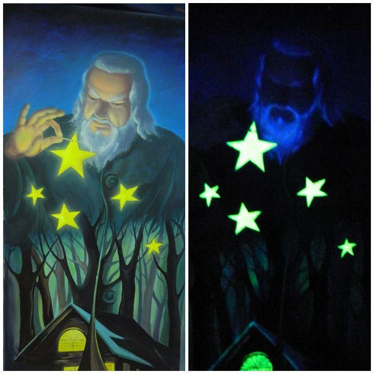 Светящаяся краска для рисования на стенах ***** Glowing paint for painting on walls #светящаяся #краска #glowing #paint #walls